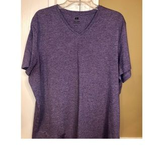 Men's H&M's Purple Slim Fit V-Neck